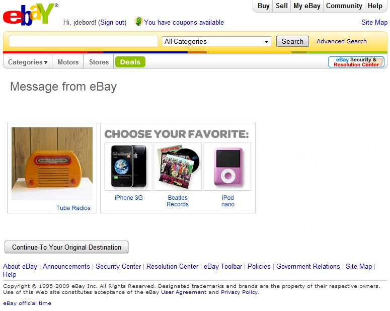 The Billboardization Of Ebay Auction Site Or Advertising Machine
