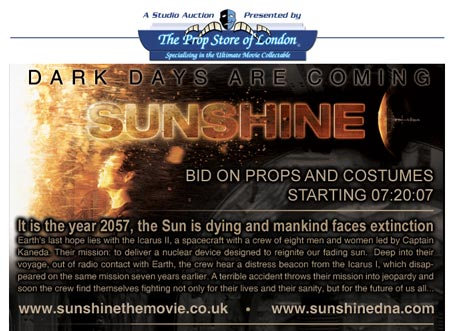 Hobby Store San Diego >> Notable Studio Auctions: Sunshine (The Prop Store of London)