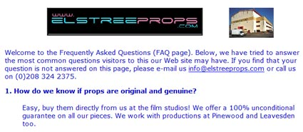 Elstree Props Retiring, Offering Business For Sale