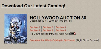 2007 Profiles In History ~ HOLLYWOOD AUCTION 28 ~ Auction Catalog 276 pgs