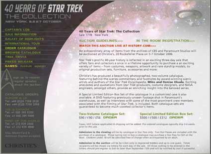 Star Trek Collector Sues Chrisities, CBS & Paramount Studios for $7 Million Dollars