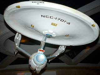 NCC 1701A Shooting Model Original Prop Star Trek The Tour