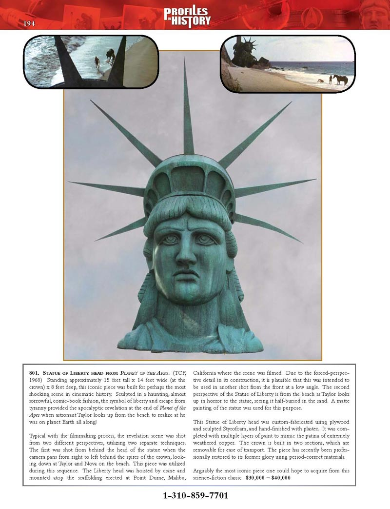 """Planet of the Apes"""" Statue of Liberty Prop – Restoration ..."""