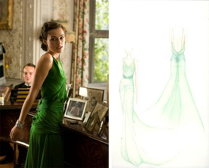 Keira Knightly Green Dress Charity Auction Atonement
