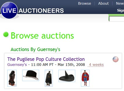 Guernsey's Pugliese Pop Culture Collection Auction: Full Catalog Online
