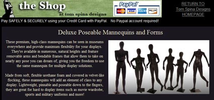 Tom Spina Designs: Product Line Update – Deluxe Mannequins/Forms