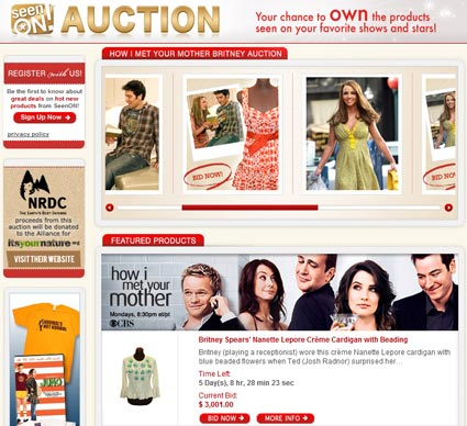"ABC ""Seen On!"" Charity Auction – How I Met Your Mother & Britney Spears Wardrobe"