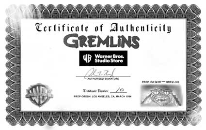 Gremlins Prop Head on eBay
