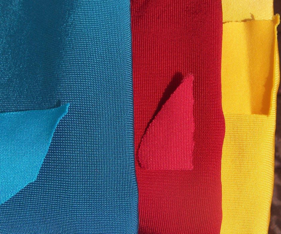 Original superman costume reference archive fabric comparison for Spandex fabric