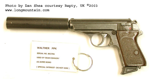the side arms of james bond 007 from the walther ppk to the p99