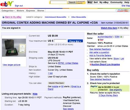 Al Capone, Global Antiques, and Auction Depot LA