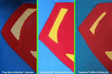 """Prop Store Collection"" Superman Costume, Fabric Discussion Continued, Part 3"