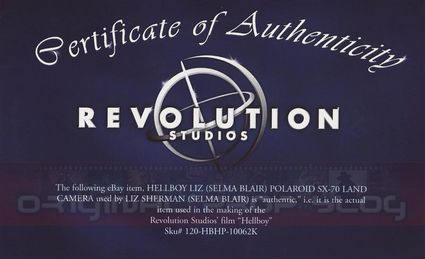 Studio Reseller Certificates of Authenticity: Premiere Props & Hollywood Vault