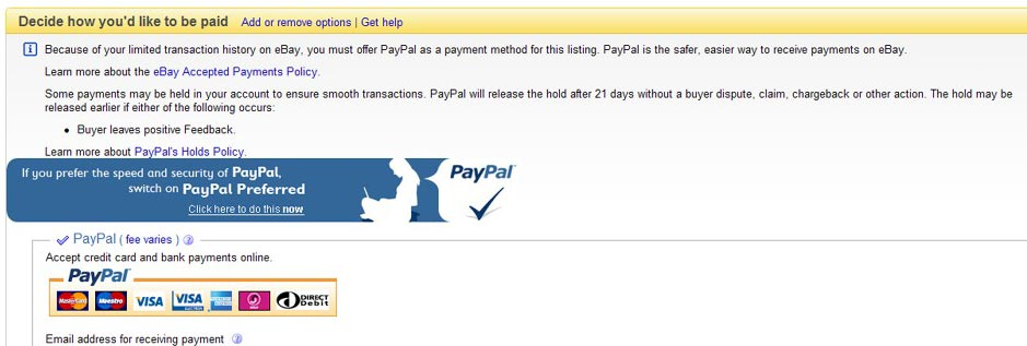 Ebay Payment Options >> More Ebay Policy Developments Regarding Paypal