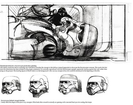 Here are samples of the designs created by Ralph McQuarrie, who came up with