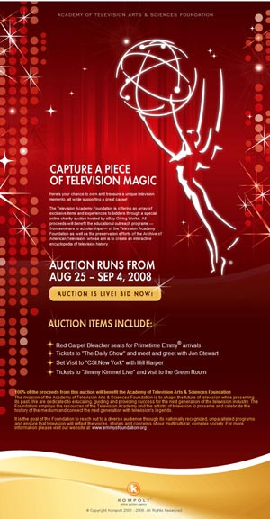 Charity Auction: Academy of Television Arts & Sciences Foundation