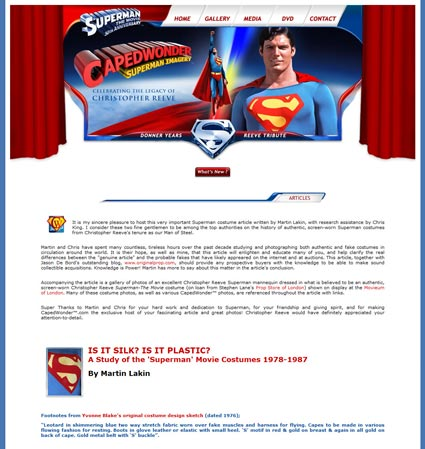 The Definitive Original Superman Costume Primer by Martin Lakin at CapedWonder.com