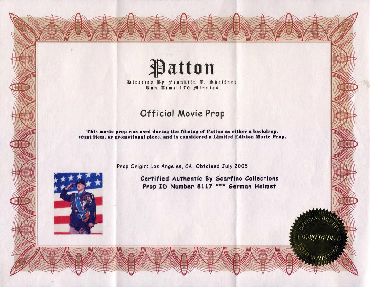 Anatomy of an original movie prop certificate of authenticity click for full resolution the certificate of authenticity alramifo Images