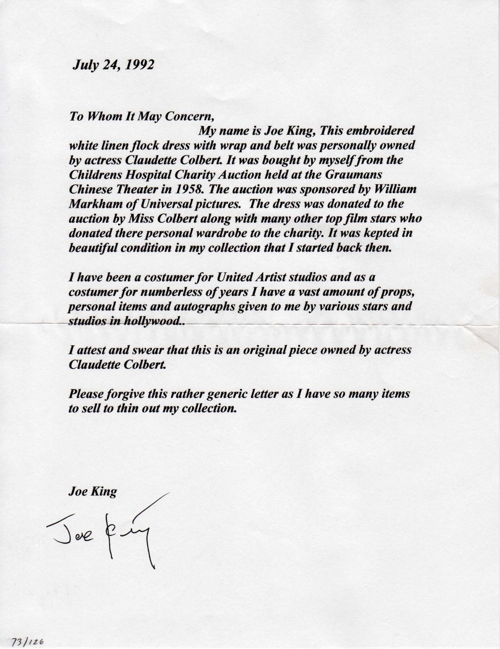 Ebays Stonark And Liieviione Comparing Joe King Signatures Loas