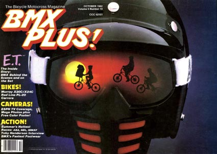 "E.T.: The Extra Terrestrial & ""BMX Plus!"" Magazine (October 1982)"