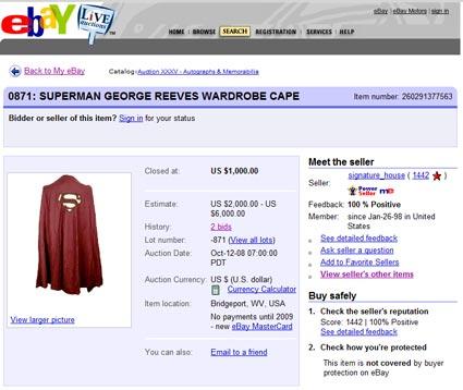 "Multiple Topic Update: Signature House Auction, Recent Superman Auctions, Les Hemstock (""kcotsmeh"")"