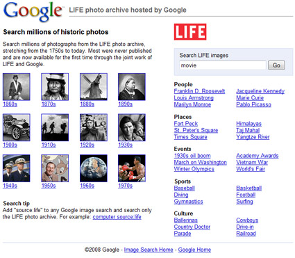 LIFE Magazine Photo Archive Hosted by Google