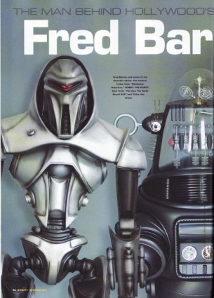Robot Magazine Feature on Hollywood Robots & Fred Barton