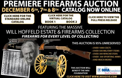 """Rock Island Auction Company """"Premiere Firearms Auction"""" – December 6-8, 2008 in Moline, IL"""