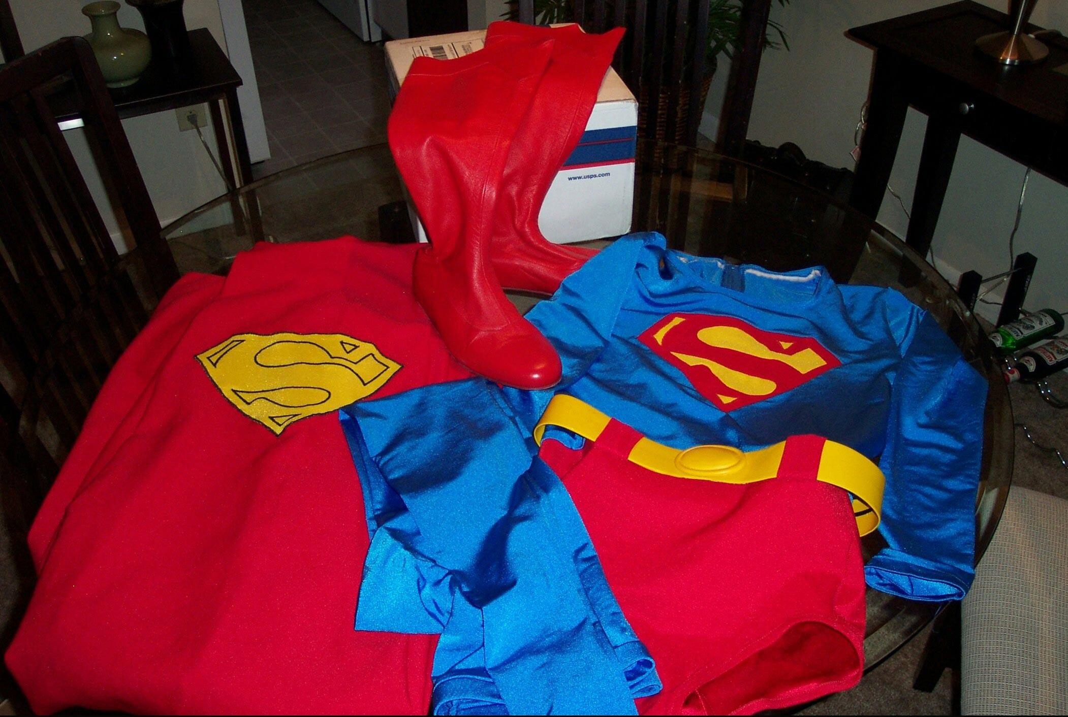 Auction Costume Ebay Suit Superman Wig 66
