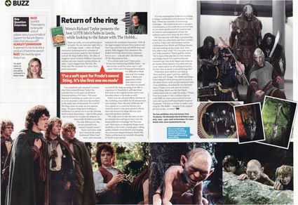 Total Film Magazine Covers Weta Workshop Exhibit, Lord of the Rings, The Hobbit