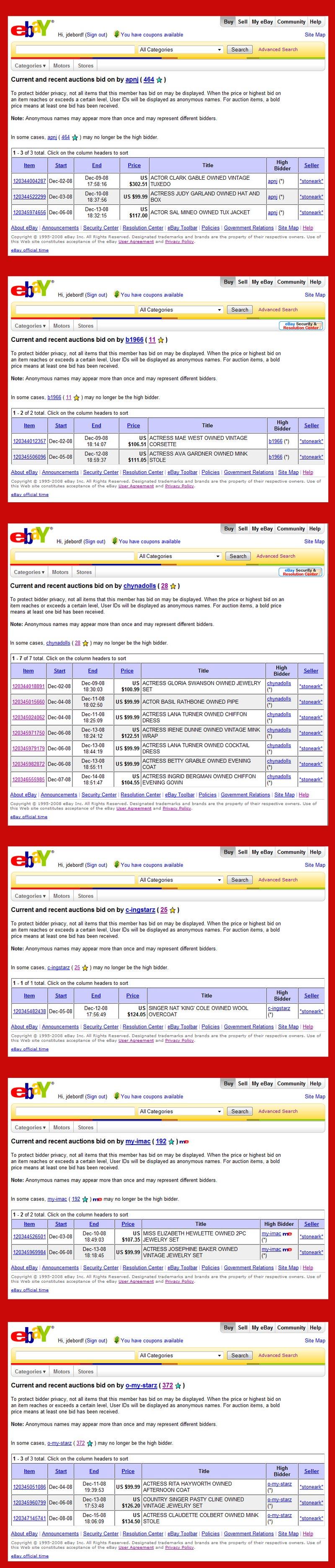 Ebay Cancel Bid Current And Recent Auctions Bid Compilation Ebay Stoneark