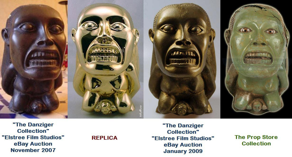 Raiders of the Lost Ark' Movie Prop Fertility Idols In The