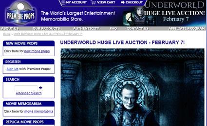 "Premiere Props ""Underworld"" Live Auction February 7th, Co-Sponsored by Fangoria"
