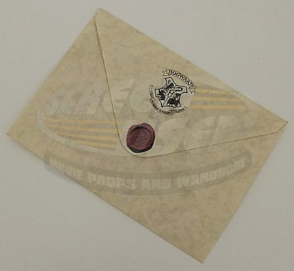 Screenused Harry Potter Hogwarts Invitation Envelope Back 02