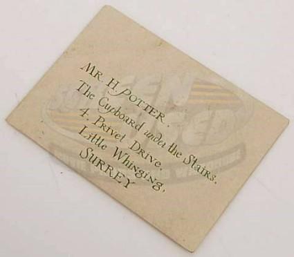 Screenused Harry Potter Hogwarts Invitation Envelope Front 01