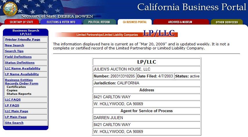 California Secretary of State - CA SOS Business Search ...