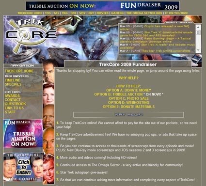 "TrekCore ""FUNdraiser"", Star Trek: Deep Space Nine Tribbles Auctions"