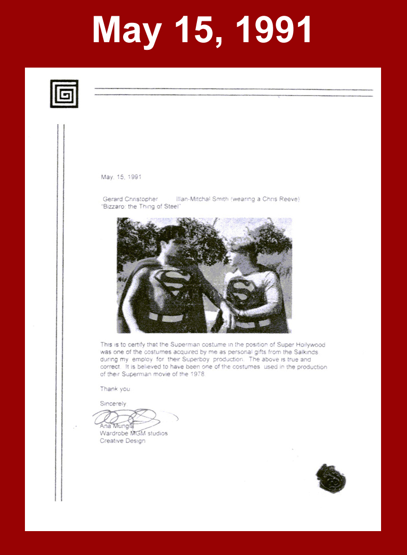 "Super Hollywood ""Gift"" Letter of Authenticity Archive (Armando Alvarez, Ana Mungia)"