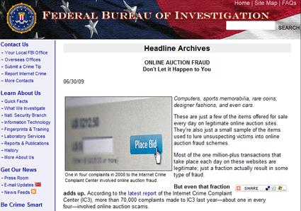 Internet fraud complaint center