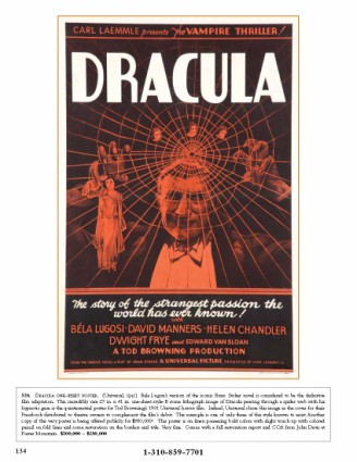 Dracula One Sheet Poster from Profiles in History Hollywood Auction 37 CATALOG [x425]