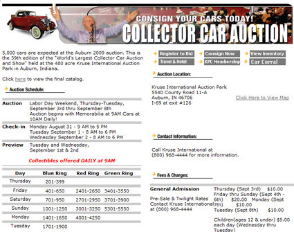 "Classic Car Auction Company Kruse International Rates ""F"" with Better Business Bureau Leading Into Labor Day Event"