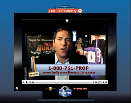 """iCollector Video Feature Shows Improvement With Latest Premiere Props Live Auction; """"Hollywood Live Auctions"""""""