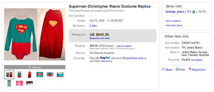 Superman Costumes in the Marketplace Archive: October 2009