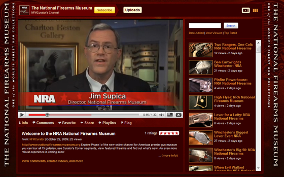 "Stembridge Movie Guns Showcased in NRA's National Firearms Museum ""Curator's Corner"" Videos"