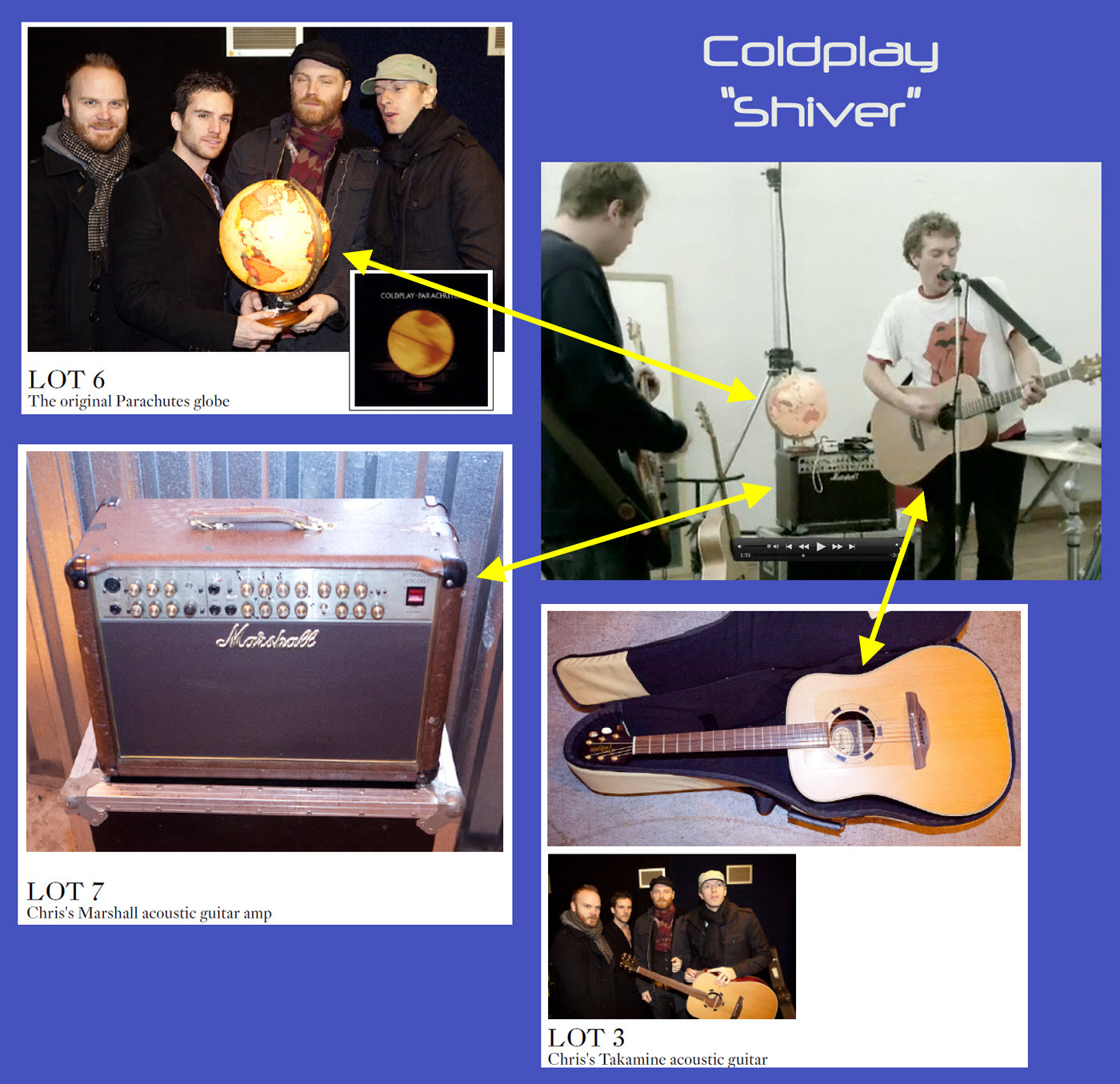 Coldplay End Of Decade Clearout Sale Memorabilia Auction Raises Over 400 000 For Charity Ebay Auction Results