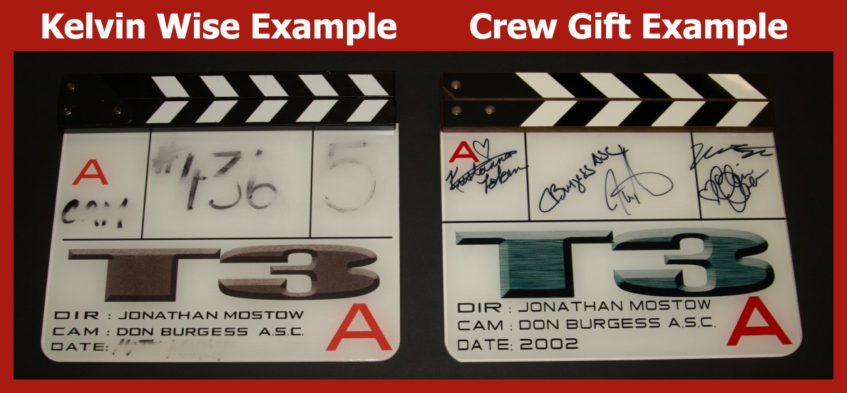 Concerns in Marketplace Over Authenticating Movie Prop Slates & Clapperboards: Update 3 (Terminator 3 Case Study)