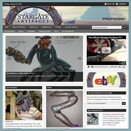 Propworx Launches Stargate eBay Auctions, Website; Announces Live Auction Events