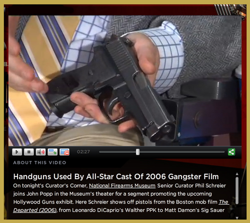 "Latest in NRA's ""Curator's Corner"" Video Series Features Set of Movie Prop Guns from Martin Scorsese's ""The Departed"""
