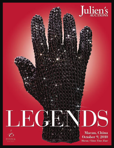 Julien's Auctions 'Legends – A Premiere Auction of Pop Culture Artifacts' Catalog Online, Event in Macau China October 8-9, 2010