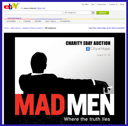 "Original 'Mad Men' TV Props & Costumes Part of Charity Auction Benefiting ""City of Hope"""